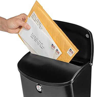 Architectural Mailboxes 2576B-10 Wall Mount Mailbox, Medium, Black