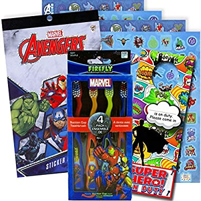 Character Children's Toothbrushes Bundle with Reward Stickers