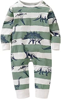 Christmas Merry Wishes Baby Romper Bodysuits Coverall Infant Baby Boy Girl Long Sleeve Romper Jumpsuit with Bottons Playsu...