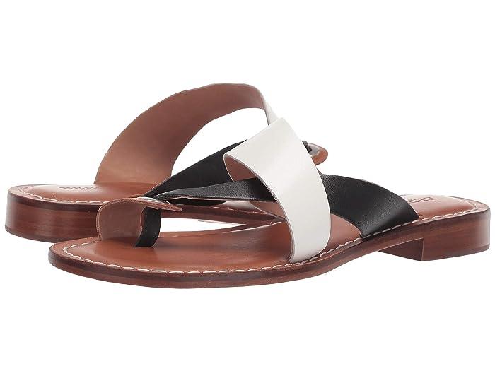 Bernardo  Tia Sandal (White/Black/Luggage) Womens Sandals