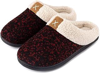ULTRAIDEAS Women's Cozy Memory Foam Slippers Fuzzy Wool-Like Plush Fleece Lined House Shoes w/Indoor, Outdoor Anti-Skid Ru...
