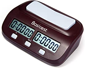 Basicest 対局時計 デジタル表示 チェスクロック 将棋 / 囲碁 / チェスに試合適用 ダウンタイマーとウントアップタイマーに使用できる