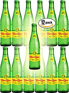 Topo Chico Twist of Lime Sparkling Mineral Water 12 Ounce Glass Bottles - Pack of 12