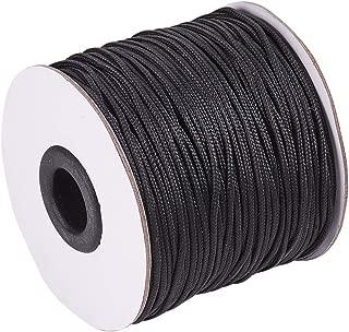 PH PandaHall 1.5mm/ 100 Yards Black Nylon Braided Lift Shade Cord for Blind Shade Mini Blind Cord Replacement String for Windows, Roman Shade Repair