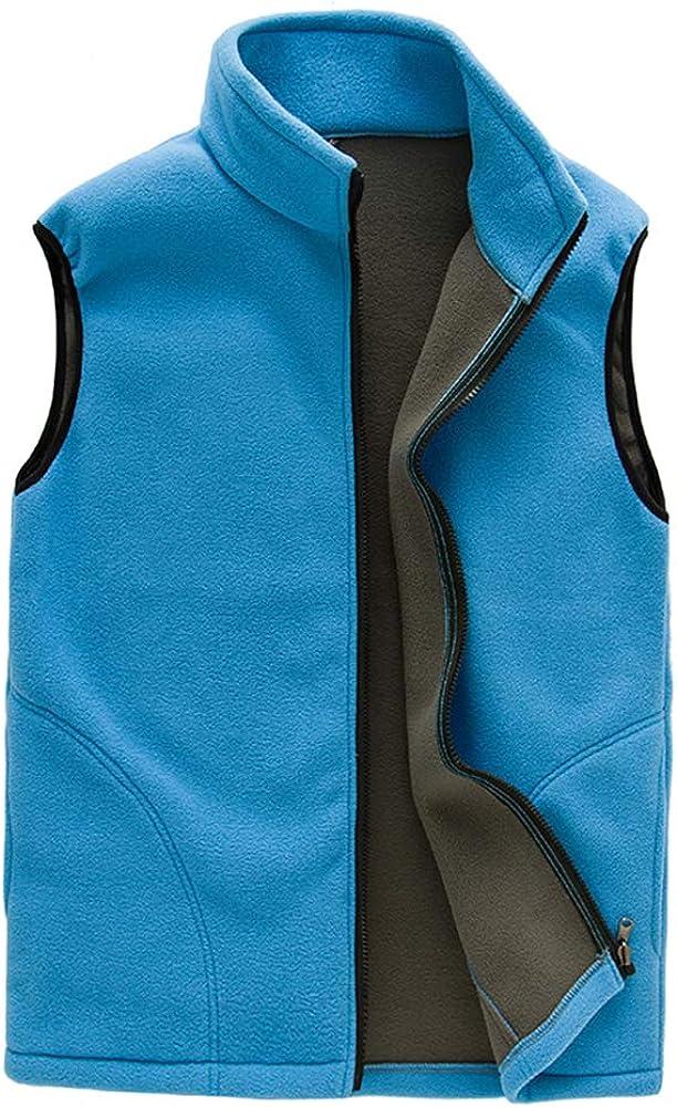 YYNUDA Men's Thermal Fleece Vest Full Zip Casual Waistcoat Outdoor Fleece Jacket