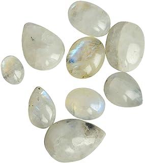 Piedras de Luna Multi Fuego Naturales 100 CT Lote de 9 Piezas de Mezcla Cabochon Gemas Sueltas BS-103