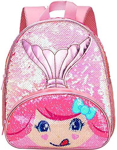 Toddler Backpack 12 Mermaid Sequin Reversible Preschool Bag for Girls product image