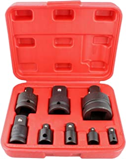 Abn Impact Adapter and Socket Reducer Set 8-Piece Kit – Drill Socket Adapter Set, Impact Adapter and Reducer Set