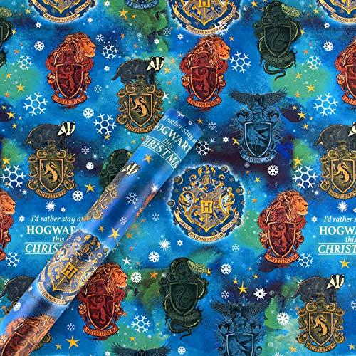 Hallmark - Rotolo di carta da regalo natalizia da 4 m, motivo: Harry Potter.