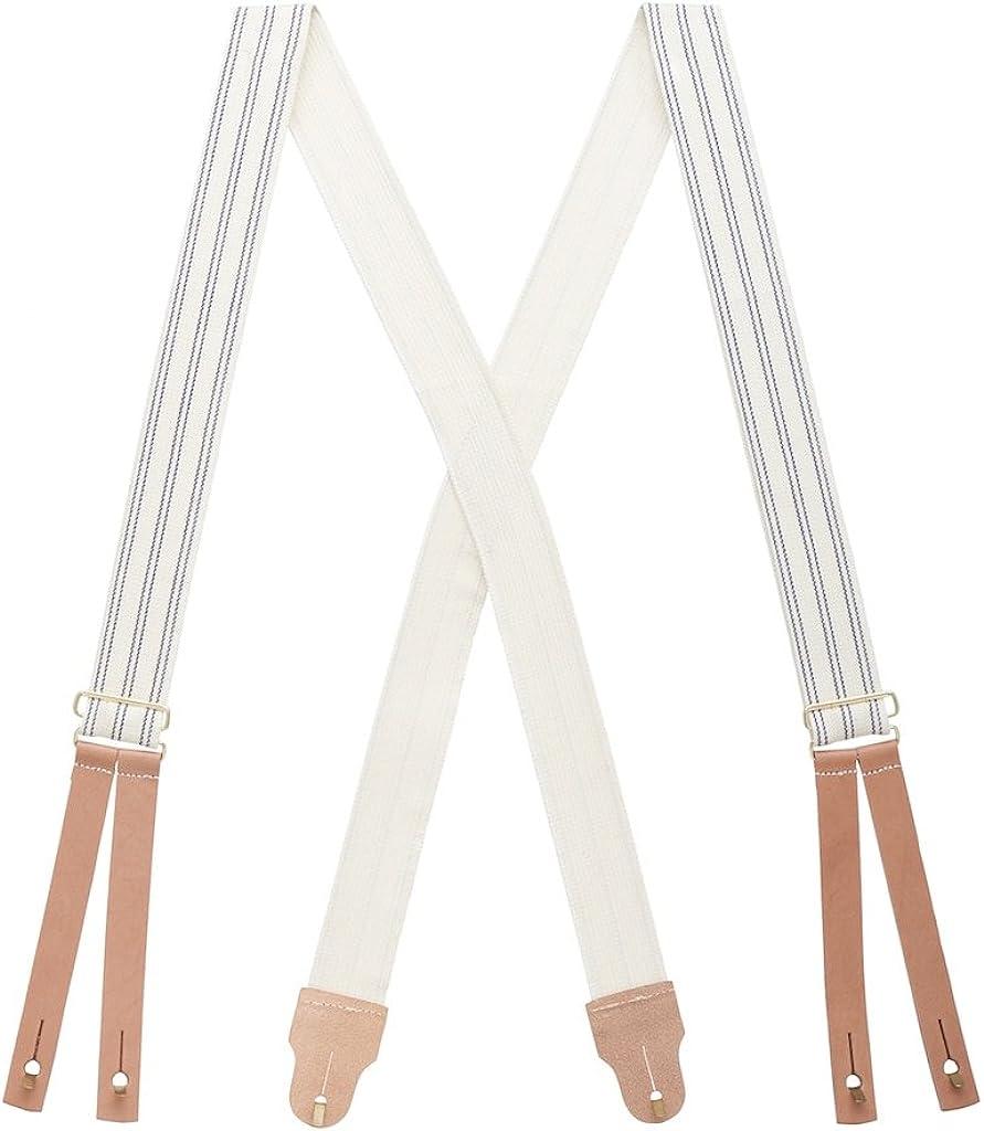 SuspenderStore Men's Civil War Suspenders - BUTTON