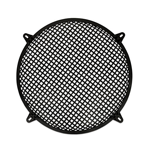 "Goldwood Subwoofer Grille and Hardware 12"" Steel Waffle Speaker Woofer Grill Black (SWG-12C)"