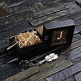 Unbekannt Personalisierte Monogramm Edelstahl Geige Schlüsselanhänger mit Geschenkbox– Ausgefallene Geschenke für Frauen, Musiker, Musikliebhaber, Geiger, Violinist.