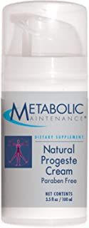 Metabolic Maintenance Natural Progeste Cream Paraben Free - BioIdentical Cream for Women with Sweet Almond Oil - Supports ...