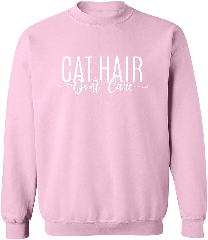 Cat Hair Don't Care Crewneck Sweatshirt