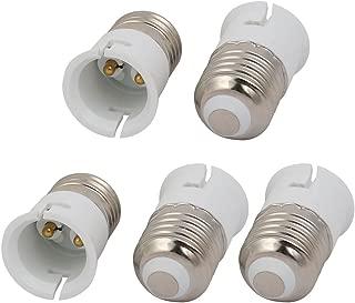 uxcell 5pcs E27 to B22 Extender Adapter Converter Light Bulb Socket Holder White