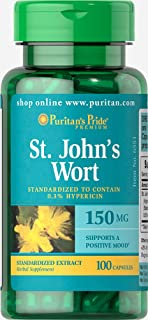 Puritan's Pride St. John's Wort Standardized Extract 150 mg-100 Capsules