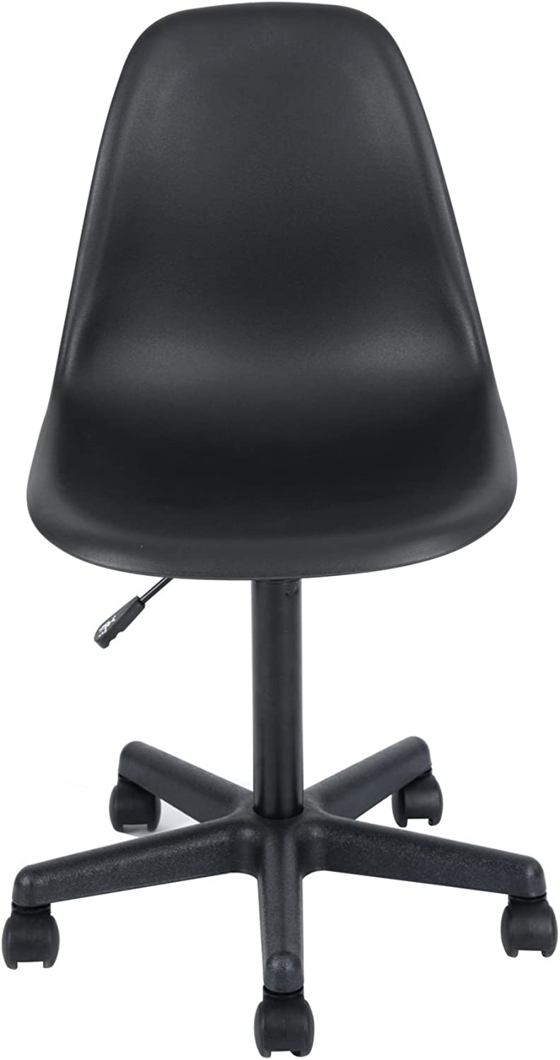 Modern Swivel Office Chair Eames Style Adjustable Computer Desk Chair with Wheels Home Office Furniture,Black