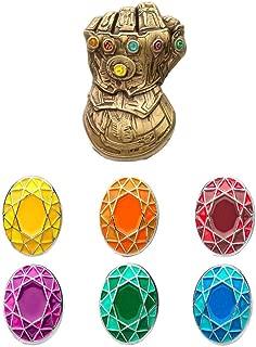Unisex Adult Avenger Infinity Gauntlet Enamel Lapel Pin Set, Multi Color, One Size
