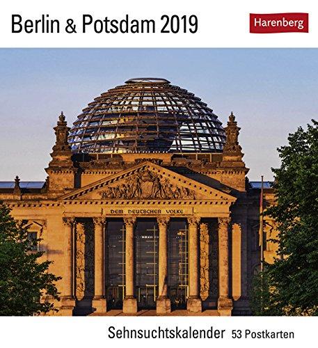 Sehnsuchtskalender Berlin und Potsdam - Kalender 2019 - Harenberg-Verlag - Postkartenkalender mit 53 heraustrennbaren Postkarten - 16 cm x 17,5 cm