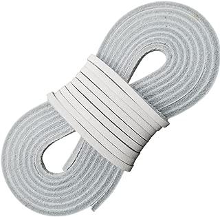 white leather shoe laces