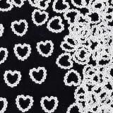 1000 Stück 11 * 11 mm Perlenherzen Tischdeko Streudeko Hochzeit Pelren Herzen Beiden Seiten Glänzen für Kunst Handwerk DIY Scrapbooking