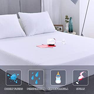 Full Size Mattress Protector Waterproof Matressprotector Full Bed Machine Washable White Noiseless Premium Soft Cotton Ter...