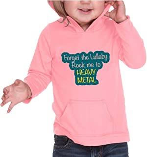 Forget The Lullaby Rock Me to Heavy Metal Boys-Girls RawEdge Hoodie