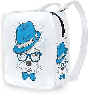 DEZIRO Bulldog - Bolso bandolera con gorro, mochila escolar
