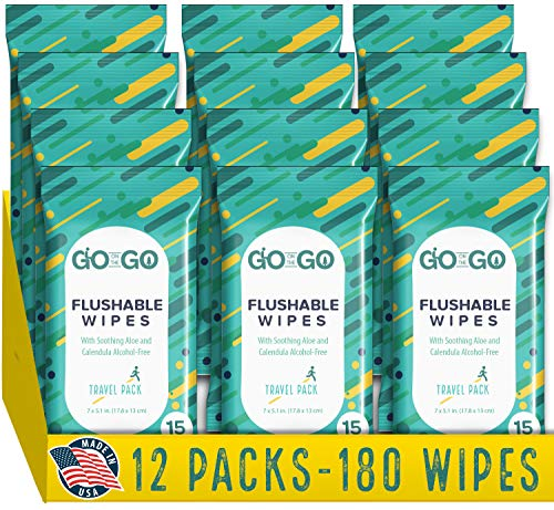 small Go On The Go Washable Travel Towels – Biodegradable, Alcohol Free, Comfortable Aloe…
