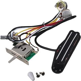 Yibuy Electric Guitar Dual-Coil Pickup Humbuck Circuit Wiring Harness Pot Switch Set