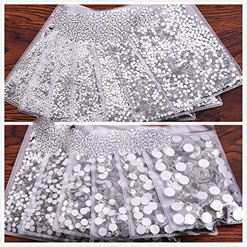 Cristal claro arte decoraciones de cristal no HotFix Art Rhinestones-blanco ss8 1440pcs