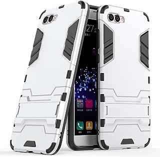 Funda para Huawei Nova 2S (6 Pulgadas) 2 en 1 Híbrida Rugged Armor Case Choque Absorción Protección Dual Layer Bumper Carcasa con Pata de Cabra (Plateado)