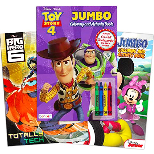 Disney Toy Story Coloring Books for Toddlers Kids Playset -- 3 Disney Coloring and Activity Books, Crayons, and Toy Story Stickers (Toy Story Party Supplies)