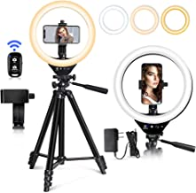 EICAUS 10'' Ring Light with Stand and Phone Holder, Cell...