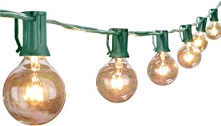 Outdoor String Light 25Feet G40 Globe Patio Lights with 27 Edison Glass Bulbs(2 Spare), Waterproof ConnectableHanging Lig...