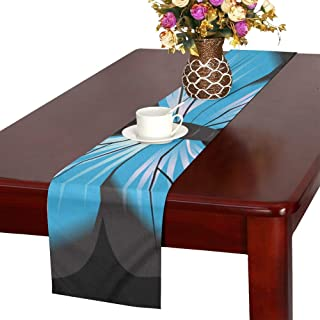 Butterfly Blue Clip Art Insect Nature Natural Bug Table Runner, Kitchen Dining Table Runner 16 X 72 Inch For Dinner Parties, Events, Decor
