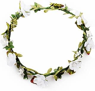 DreamLily Women's Flower Festival Wedding Hair Wreath Boho Floral Headband BC09