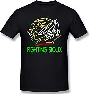 ARIELLA Fighting Sioux Print Short Sleeve T Shirt for Men and Women