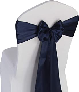 Best navy blue satin chair sashes Reviews