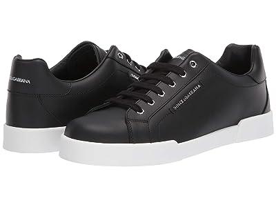 Dolce & Gabbana Kids Sneaker Lettering Vit.Nappato (Big Kid) (Nero) Boy