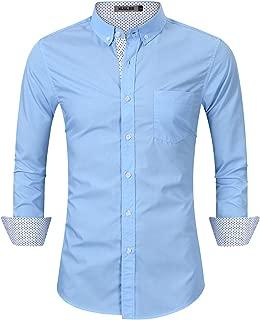 Men's Casual Slim Fit Cargo Shirt Long Sleeve Work Shirt Dress Shirt Tactical Shirt Outdoors