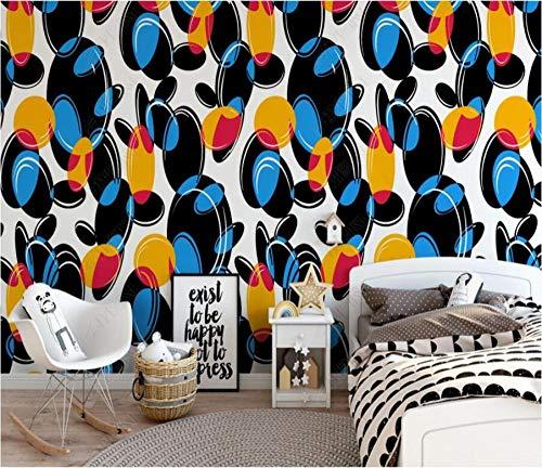 Papel Pintado 3D Círculo de piedra geométrico continuo cuadrado Fotomurales Pared Dormitorio Papel Pintado Fotográfico Mural Decoración