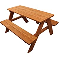 Home Wear Children's Wood Picnic Table (Red Wood)