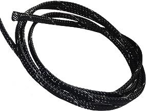 Aerzetix - Guaina intrecciata in termoretraibile termorestringente 4.5 metri 4mm 3-7 manicotto per cavo filo elettrico