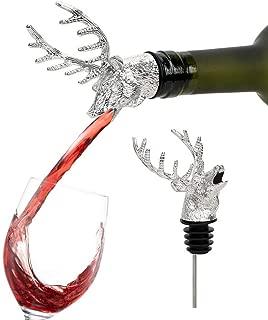 Mousseux Cidre FITYLE Verseur Cerf T/ête Bouteille de Vin en Acier Inoxydable avec Bec Verseur A/érateur et Bouchon Vin pour Vin Champagne