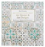 Idena 68131 - Malbuch für Erwachsene, Motiv Muster und Designs, 80 Seiten, zum Erschaffen von kreativen Kunstwerken, als Ausgleich zum Alltag und für Freizeit und Urlaub