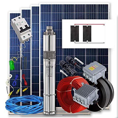 Kit solar Bombeo 400w - 2/4cv Caudal max. 1600 Litros/hora Altura 80 metros Funciona directo con panel solar