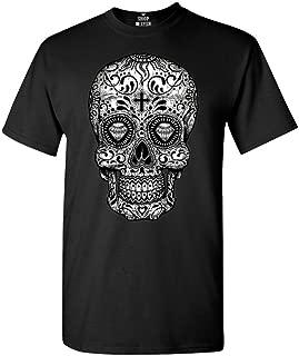 sugar skull t shirt mens
