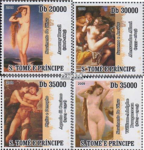 Prophila Collection Sao Tome e Principe 4093-4096 (kompl.Ausg.) 2009 Aktgemälde (Briefmarken für Sammler) Malerei