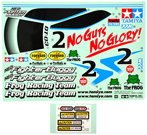 TAMIYA 319495811 - Zubehör: DT03 Sticker Neo Fighter Buggy